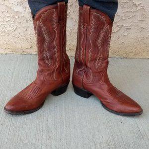 Dan Post Men's Brown Leather Cowboy Boots-Sz 8